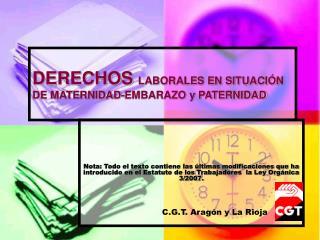 DERECHOS LABORALES EN SITUACI N DE MATERNIDAD-EMBARAZO y PATERNIDAD
