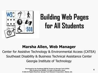 Building Web Pages for All Students