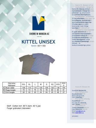 KITTEL UNISEX Varenr:  827-1-502