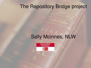 The Repository Bridge project  Sally Mcinnes, NLW