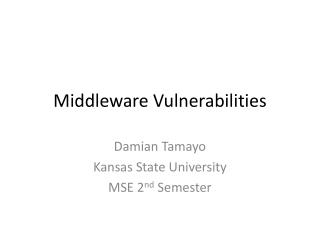 Middleware Vulnerabilities