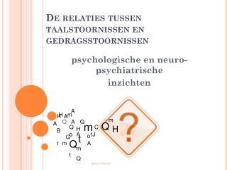 De relaties tussen taalstoornissen en gedragsstoornissen