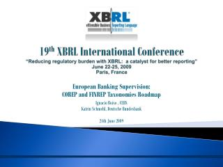European Banking Supervision:  COREP and FINREP Taxonomies Roadmap