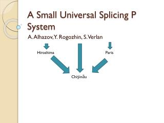 A Small Universal Splicing P System