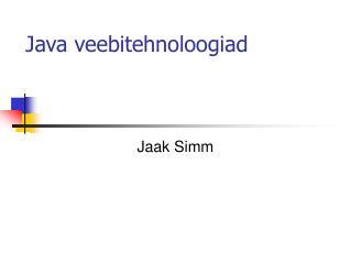Java veebitehnoloogiad