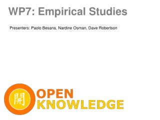 WP7: Empirical Studies