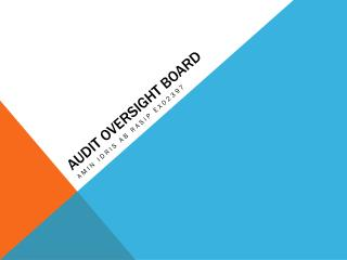 AUDIT OVERSIGHT BOARD
