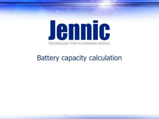 Battery capacity calculation
