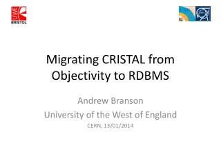 Migrating CRISTAL from Objectivity to RDBMS