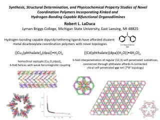 Synthesis, Structural Determination, and Physicochemical Property Studies of Novel