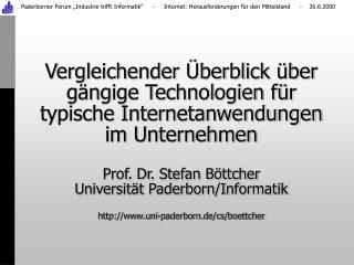 Universität Paderborn/Informatik  einige Kunden der letzten 12 Monate: