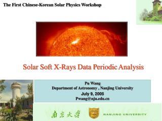Solar Soft X-Rays Data P eriodic Analysis