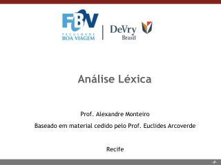 An�lise L�xica