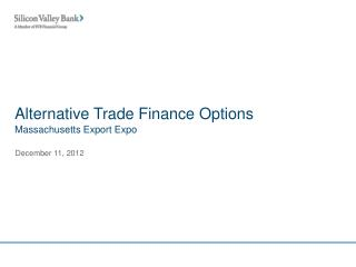 Alternative Trade Finance Options