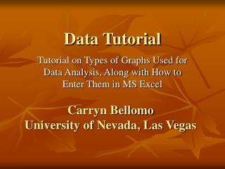 Data Tutorial