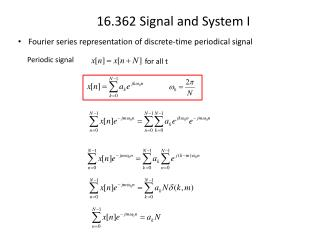 Fourier series representation of discrete-time periodical signal