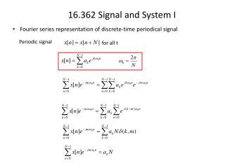 Fourier series representation of discrete-time periodical signal