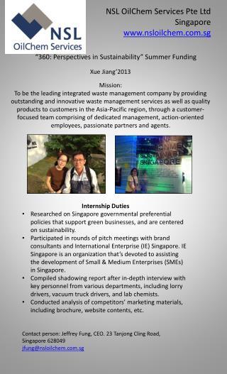 NSL  OilChem  Services  Pte  Ltd Singapore nsloilchem.sg
