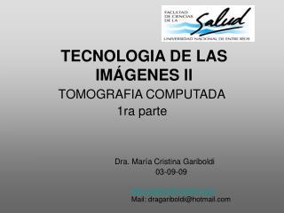 TECNOLOGIA DE LAS IM�GENES ll