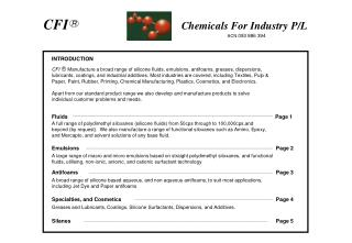 CFI R        Chemicals For Industry P/L ACN  093 886 394