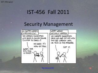 IST-456  Fall 2011