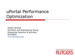 uPortal Performance Optimization