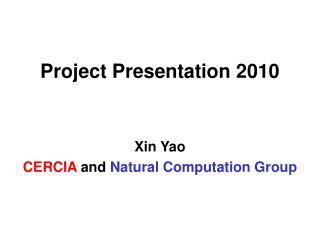 Project Presentation 2010
