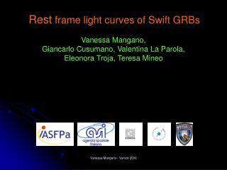 Rest  frame light curves of Swift GRBs