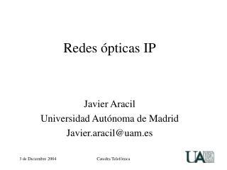 Redes ópticas IP