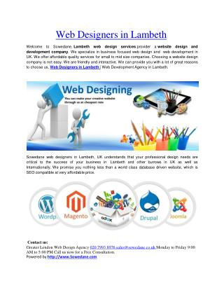 Web Designers in Lambeth
