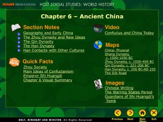 Chapter 6 – Ancient China