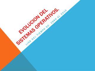 EVOLUCION del sistemas operativos .