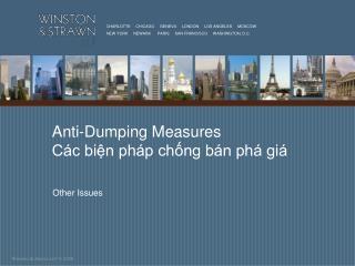 Anti-Dumping Measures Các biện pháp chống bán phá giá