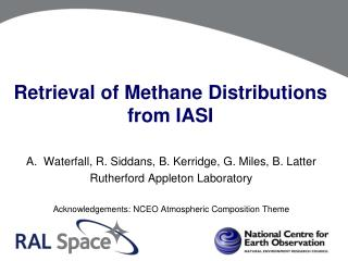 Retrieval of Methane Distributions from IASI