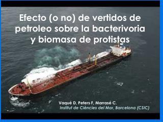 Efecto (o no) de vertidos de petroleo sobre la bacterivoria y biomasa de protistas