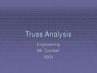 Truss Analysis