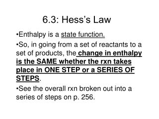 6.3: Hess's Law