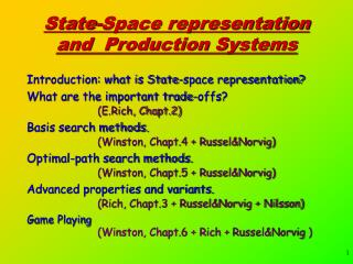 State-Space representation and  Production Systems