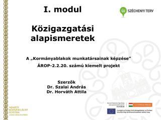 I. modul Közigazgatási alapismeretek