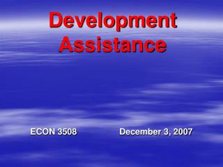 Development Assistance