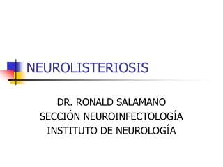 NEUROLISTERIOSIS