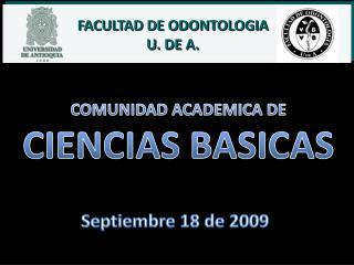 COMUNIDAD ACADEMICA DE CIENCIAS BASICAS
