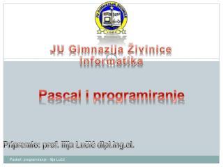 JU Gimnazija Živinice Informatika