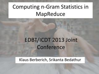 Computing n-Gram Statistics in MapReduce
