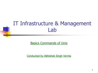 IT Infrastructure & Management  Lab