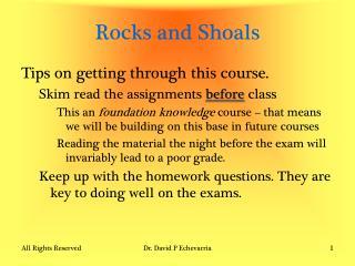 Rocks and Shoals