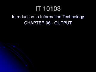 IT 10103