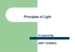 Principles of Light