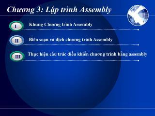Chương 3: Lập trình Assembly