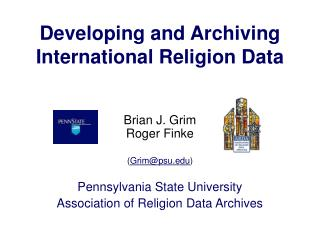 Developing and Archiving International Religion Data
